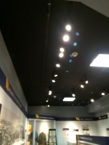Upgraded Lighting highlighting each exhibit